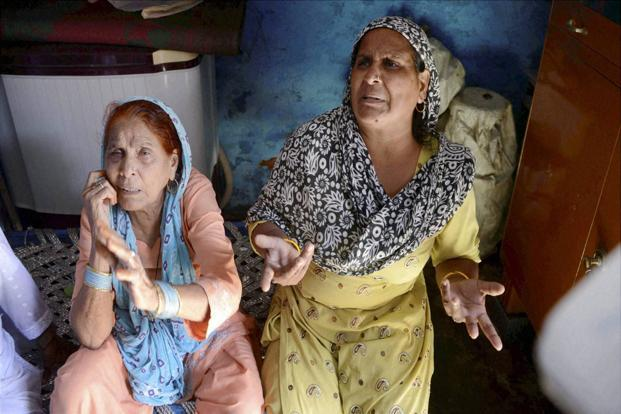 Relatives of Mohammad Akhlaq, who was lynched by a mob over rumours of beef consumption. Photo: PTI