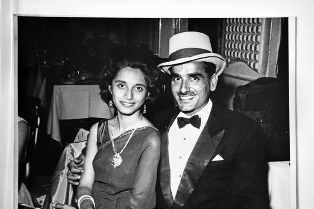 Naresh Kumar with his wife Sunita after the Wimbledon Ball in 1962.