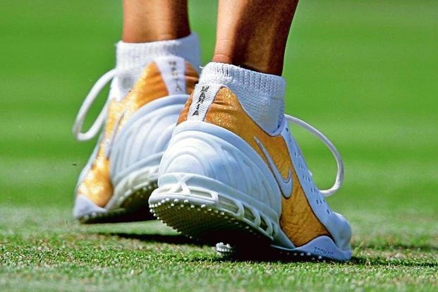 Maria Sharapova's shoes. Photo: Reuters