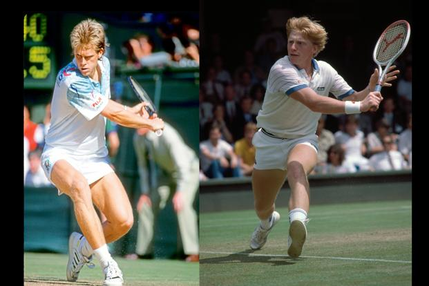 Stefan Edberg (left) and Boris Becker. Photo: Getty Images