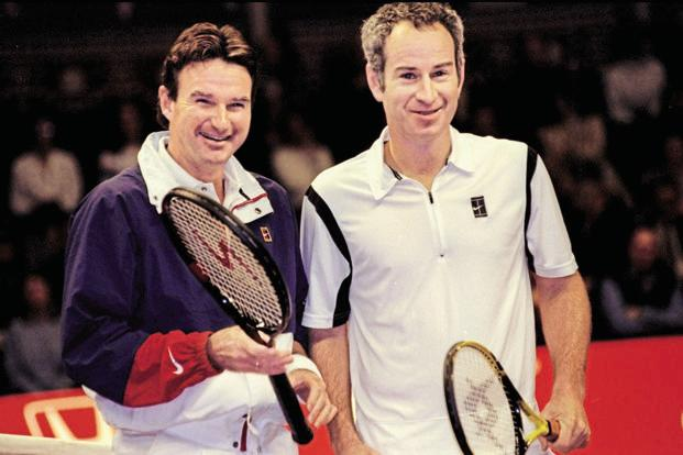Jimmy Connors and John McEnroe. Photo: Getty Images