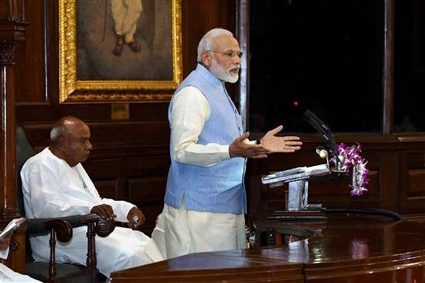 Chartered accountants ensure that the economic health of society remains fine, said Narendra Modi. Photo: PTI