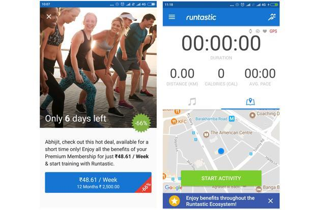 Runtastic is compatible with smartwatches running Android wear and can sync its data on the app.