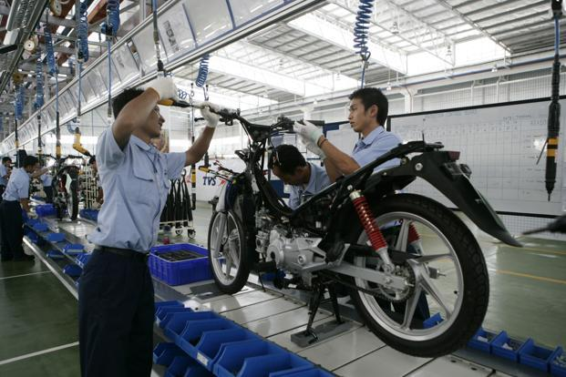TVS Motor's two-wheeler sales during June increased 11.8% to 2,68,638 units. Photo: Bloomberg