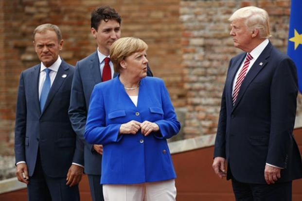 Donald Trump said that he looks forward to helping Chancellor Merkel make the G20 Summit a success. File photo: AP