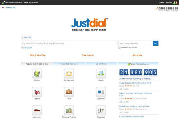 Just Dial's market valuation also fell by Rs129.13 crore to Rs2,525.15 crore on Tuesday.