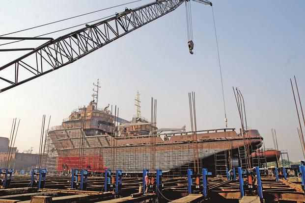 The ABG Shipyard facility in Surat, Gujarat. The company said it has defaulted in repayment of loans and covenants of the corporate debt restructuring scheme of lenders. Photo: Ashesh Shah/Mint