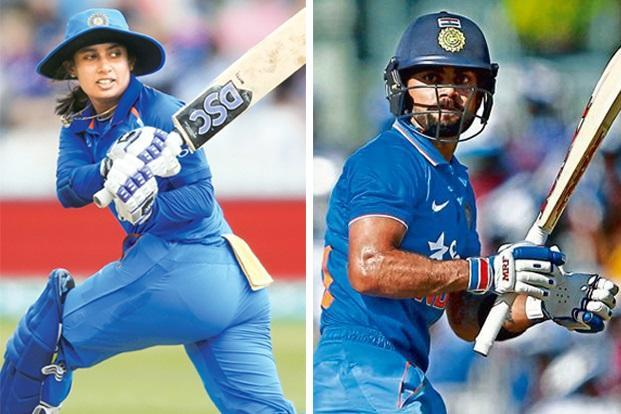 Mithali Raj (left). Photo: AP; and Virat Kohli. Photo: Reuters.