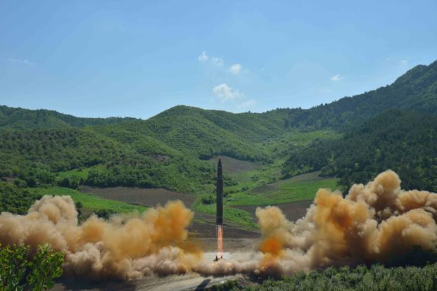 North Korea on Tuesday launched the Hwasong-14 missile which experts say is capable of reaching Alaska. Photo: Reuters