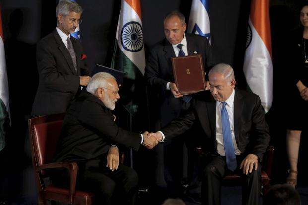 PM Narendra Modi (left) and Israel's Benjamin Netanyahu. The goal of the Israel India Innovation Initiative Fund is to encourage Indians to invest in Israel's technology ecosystem and spur large Indian firms to open development centres in that country.
