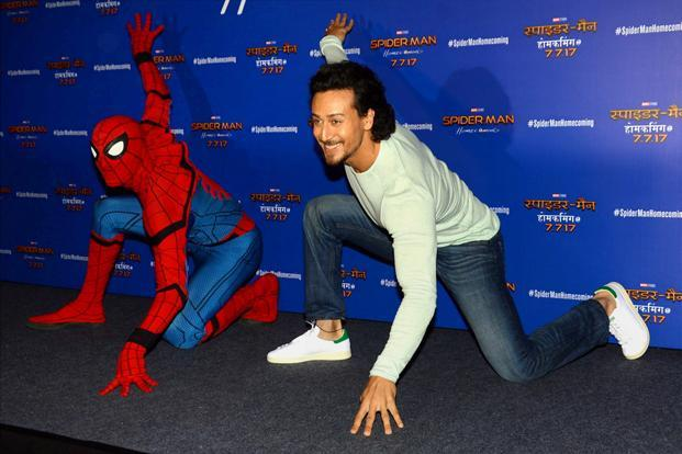 Actor Tiger Shroff dubbed for the Hindi version of 'Spider-Man: Homecoming'. Photo: PTI