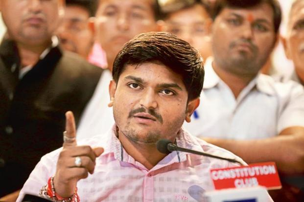 Patidar quota spearhead and youth leader Hardik Patel. The Gujarat assembly elections are slated for December this year. Photo: HT
