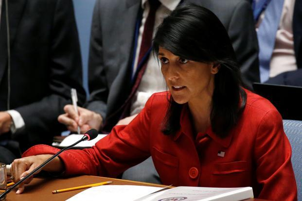 US ambassador Nikki Haley said ICBM test had made 'the world a more dangerous place'. Photo: Reuters