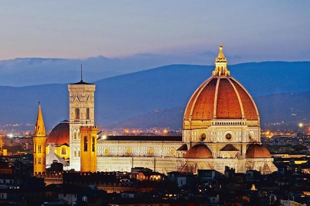 The Duomo in Florence as seen from Michelangelo Hill. Photographs: Courtesy Wikimedia Commons.