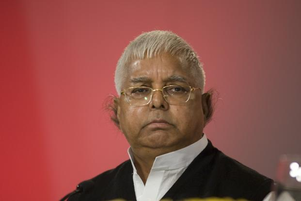 A file photo of former railway minister Lalu Prasad Yadav. CBI searches are being conducted