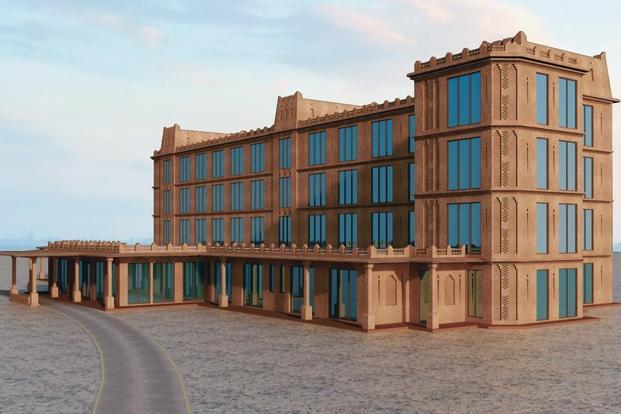 An architectural rendition of the upcoming Gurukul School of Design.