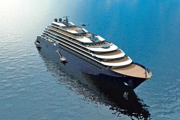 A rendering of the ship. Photo: Courtesy The Ritz-Carlton