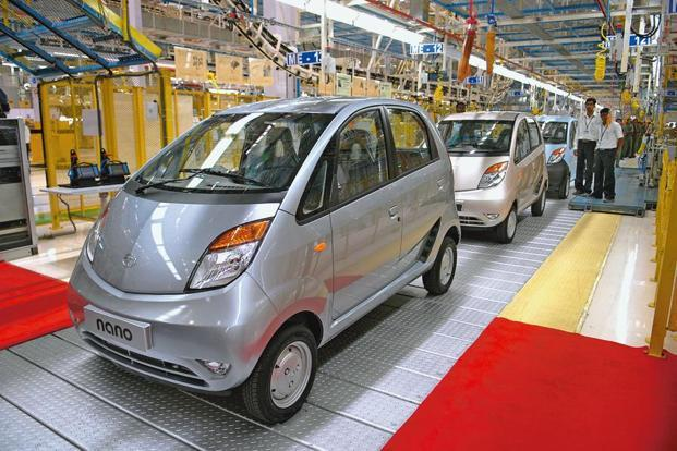 Ratan Tata's brainchild, the Tata Nano was initially launched with a price of Rs100,000, which has increased with time and now retails at Rs2.69 lakh. Photo: Abhijit Bhatlekar/Mint
