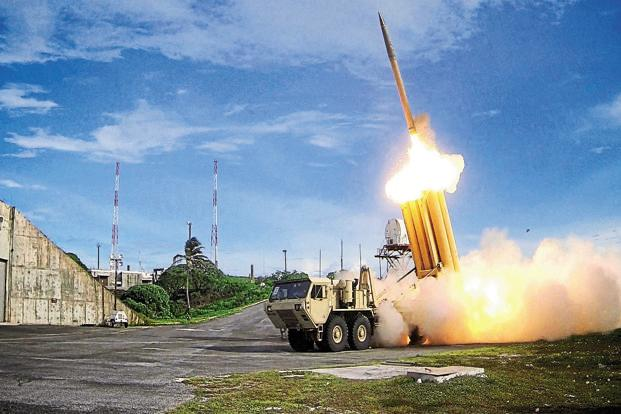 THAAD is a ground-based missile defence system designed to shoot down short-, medium- and intermediate-range ballistic missiles. Photo: Reuters