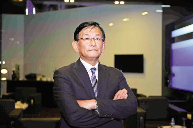 Maruti Suzuki CEO Kenichi Ayukawa. The car maker will also launch exclusive service centres for cars sold through the Nexa dealerships. Photo: Pradee Gaur/Mint