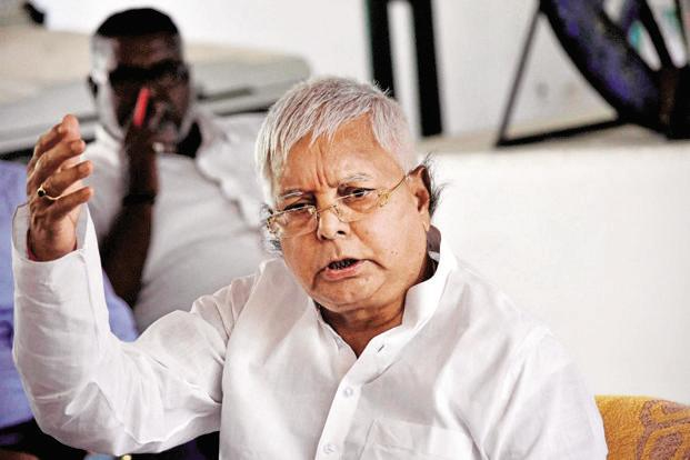 RJD chief and former Bihar chief minister Lalu Prasad. Photo: PTI