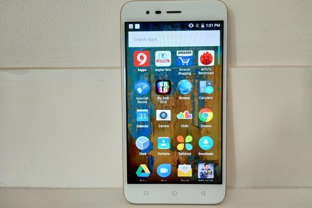 The Intex smartphone runs a somewhat new version of Android (7.0) with a near-stock version of Android.