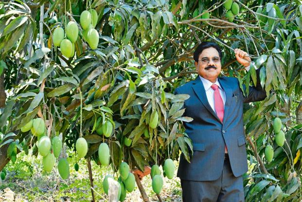 Sunil Zode, chairman of Conaitre Group. While traditionally Dalits were not allowed to own land, Zode now owns six acres of land and a farmhouse in the posh Alibaug locality in Raigad district of Maharashtra. Photo: Aniruddha  Chowdhary/Mint