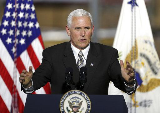 A file photo of US vice-president Mike Pence. Photo: AP