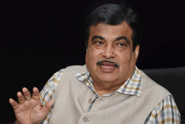 Union transport minister Nitin Gadkari briefs a press conference after a cabinet meeting in New Delhi on 12 July. Photo: PTI