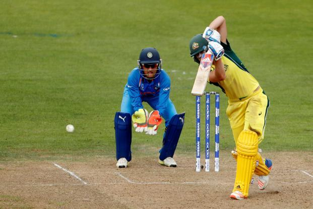 Australia's Ellyse Perry in action during her match-winning knock against India. Photo: Reuters