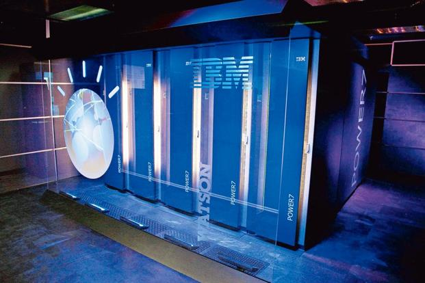 A file photo of IBM's Watson computing system at the IBM T.J. Watson Research Centre in New York. Photo: AFP