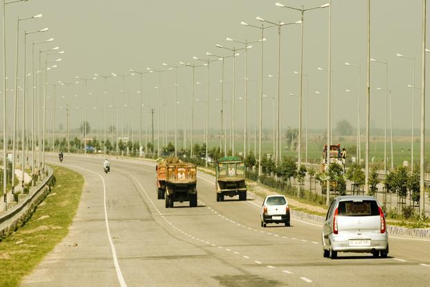 The 700-km-long and 120-feet-wide expressway is estimated to cost Rs46,000 crore and needs around 10,000 hectares of land. Photo: Ramesh Pathania/Mint