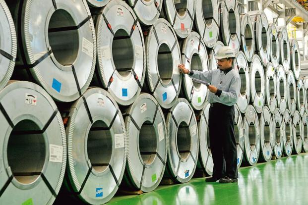 As the report, domestic steel demand remained weak with 4% growth to 13.8 million tonnes in April-May 2017, while June witnessed weak sales on the uncertainty over GST. Photo: Abhijit Bhatlekar/Mint