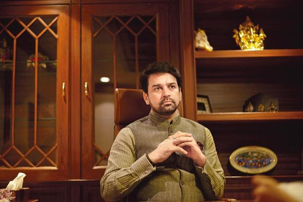 Supreme court had initiated contempt proceedings against Anurag Thakur for filing a false affidavit regarding writing to the ICC on the issue of BCCI's autonomy. Photo: Mint