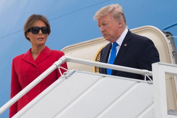 US President Donald Trump with First Lady Melania Trump. Photo: AFP
