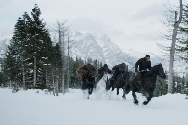 A still from 'The War for the Planet of the Apes'.
