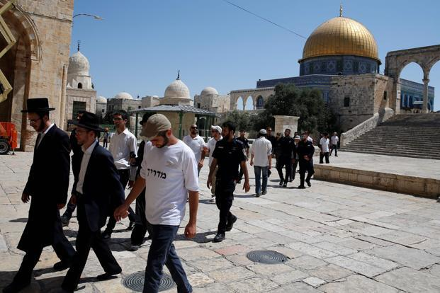 The rare gunfight took place inside a sacred hilltop compound in Jerusalem, known to Jews as Temple Mount and to Muslims as Noble Sanctuary. Photo: AFP