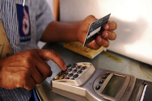 The rise in payments through debit and credit cards was least among all digital transactions. Photo: Ramesh Pathania/Mint