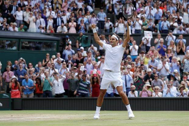Roger Federer defeated Croatia's Marin Cilic 6-3 6-1 6-4 to lift his 8th Wimbledon title and 19th Grand Slam title on Sunday. Photo: Reuters