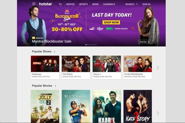 The Hotstar app has crossed 300 million downloads in India.