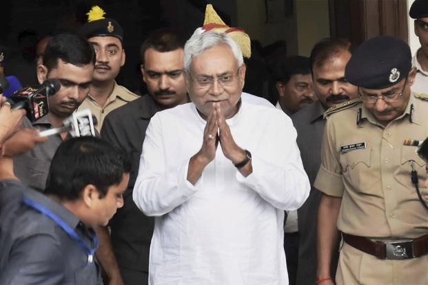 Nitish Kumar had held a meeting with his party MLAs on Tuesday. Photo: PTI