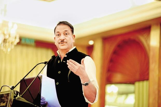 In the next six months, two lakh people will get complete training about GST, skill development minister Rajiv Pratap Rudy said.  Photo: Ramesh Pathania