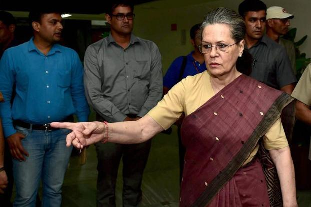 Congress chief Sonia Gandhi said opposition parties' support Meira Kumar and Gopal Krishna Gandhi for presidential election confirms that the fight for an inclusive, tolerant and pluralistic India is being truly waged. Photo: PTI