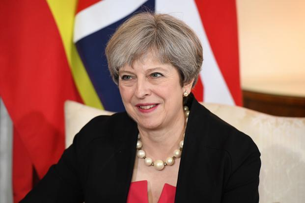 A file of the British Prime Minister Theresa May. Photo: Reuters