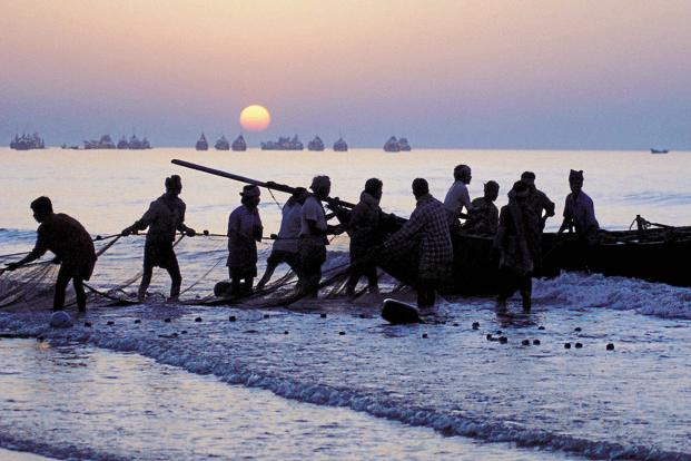File photo. The fishermen fear sea erosion and have claimed that the proposed project at Enayam would displace over 30,000 fishermen families. Photo: AFP