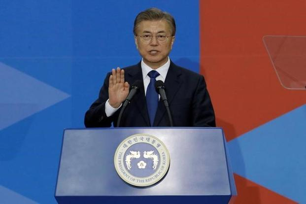 South Korean President Moon Jae-In has advocated dialogue with North Korea as a means of bringing it to the negotiating table. Photo: Reuters
