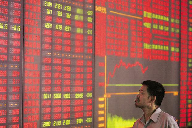 The selloff spread to the benchmark Shanghai Composite Index, which fell the most since December, trimming its gain this year to about 2%. Photo: Reuters