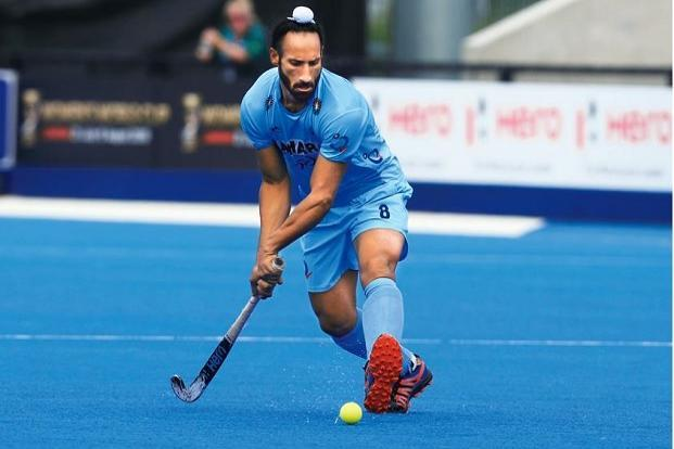 Sardar Singh in the Hockey World League semi-final against Canada in London in June. Photo: AFP