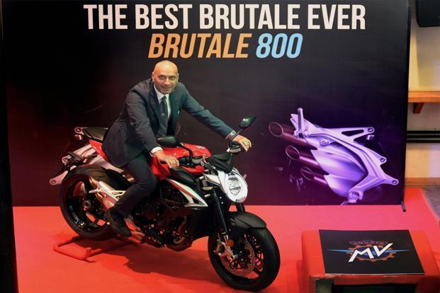 MV Agusta Brutale 800 was launched in Mumbai on Wednesday. Photo: PTI