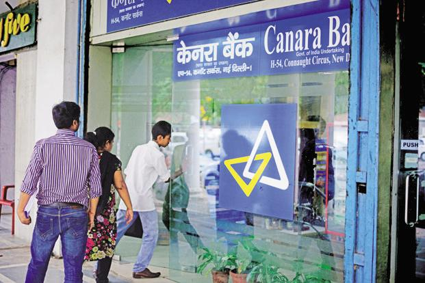 Canara Bank's gross bad loans as a percentage of total loans rose to 10.56% at end-June from 9.63% at March-end. Photo: Pradeep Gaur/ Mint